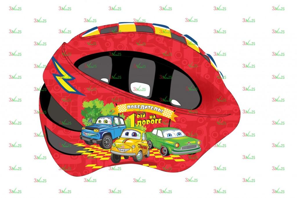 Фото Шлем детский VSH 8, р-р M (52-56см), Машинки