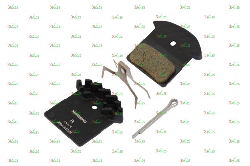 Фото Тормозные колодки для дисковых тормозов Shimano J02A, пласт. с радиатором