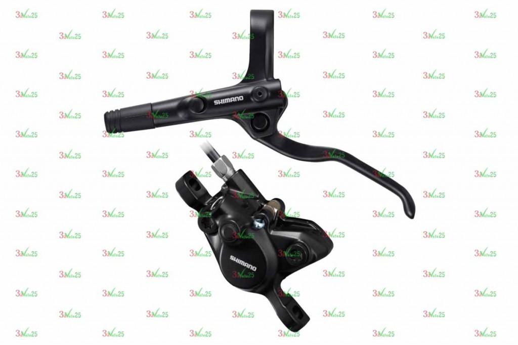 Фото Тормоз дисковый гидравлический Shimano MT200, BL(лев)/BR(пер), полимер. кол., 1000 мм, черн.
