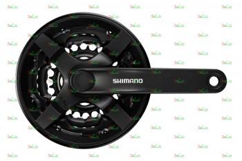 Система Shimano FC-TY301, 170мм, Кв, 42/34/24T, чер.