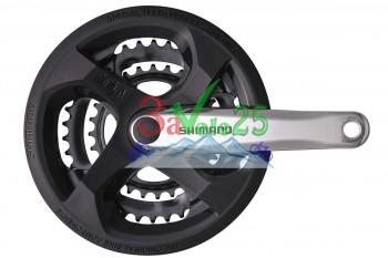 Система Shimano FC-M131, 170мм, Кв, 48/38/28, сер. (Tourney)
