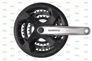 Система Shimano FC-M131, 170мм, Кв, 42/34/24, сер. (Tourney)