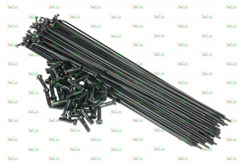 Спица с ниппелем 14G/264 мм, сталь, чер.