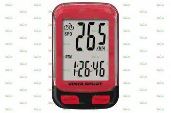 Велокомпьютер V-3500, 12 фун., красн.