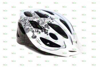 Шлем VSH 13 Flora, M (56-59см), бел./чер.