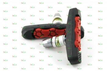 Тормозные колодки V-br VB 111-2, 72мм, чер./красн.