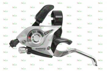 Шифтер/Тормозная ручка Shimano ST-EF51, 3ск./L, тр. 1800мм,