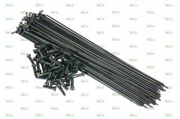 Спица с ниппелем 14G/257 мм, сталь, чер.